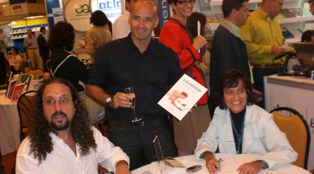 Ricardo, Horácio e Simone no lançamento do livro e-Usabilidade